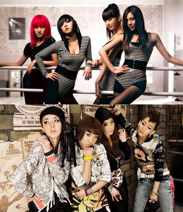 miss A & 2NE1
