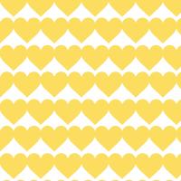 黄色いハートのシームレスパターン