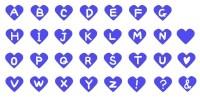 サムネイルアルファベットハート素材青色