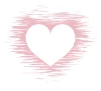 白抜きハートマークかすれた背景pink