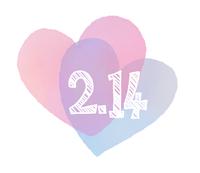 2.14白抜きハート手描き水彩風