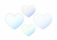 半透明な薄青いハート