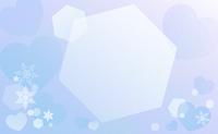 雪の結晶と背景水色