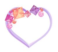 キラキラ石フレーム紫背景なし
