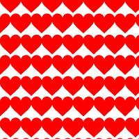 赤いハートのシームレスパターン