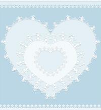 フリー素材白いレースのポストカードのサンプル画像