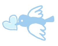 青い小鳥のイラスト素材サンプル