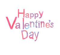 バレンタインメッセージ素材happyValentine'sDay文字のみ