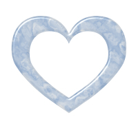 マーブル模様のハートフレーム素材ブルー