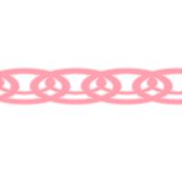 装飾ライン素材ピンク細め