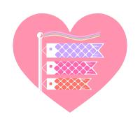 鯉のぼりイラスト素材ピンク