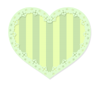 グリーンストライプハート
