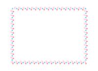 ハートの装飾枠四角