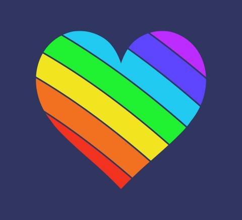サンプル左上虹色のハートマーク