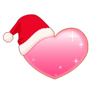 サンタ帽子ピンクハート