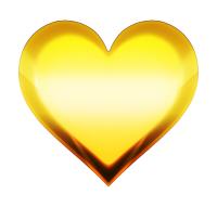 ゴールドハートマーク