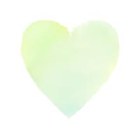 緑色の水彩ハート