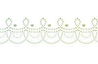 点々装飾ライン緑色