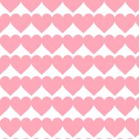 ピンクハートのシームレスパターン