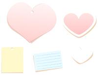 ピンク、水色など淡い色合いのメモ