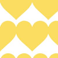 大きな黄色いハートのシームレスパターン