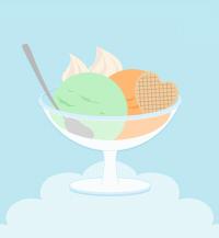 フルーツアイスデザートイラスト素材
