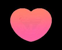 透明ハート薄ピンク