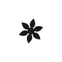 黒単色花マーク