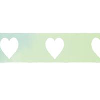 緑色水彩風ライン素材