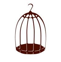 鳥かごイラストの無料素材
