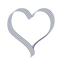 細線が連なるハート枠青