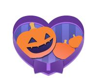 ハロウィンフリーイラストかぼちゃ