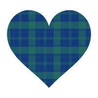 青と緑のタータンチェックハート.png