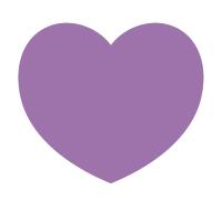紫のハート