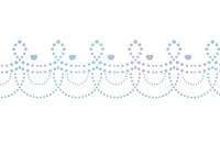 点々装飾ライン青