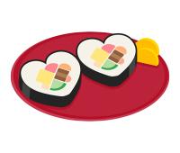 ハート型太巻き寿司