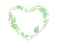 葉っぱのハートフレームイエローグリーン