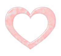 マーブル模様のハートフレーム素材ピンク