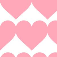 大きなピンクハートのシームレスパターン