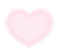 フリルレースのハート素材ピンク