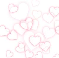 散らばる白抜きのハート模様ピンク