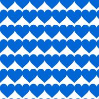 青いハートのシームレスパターン