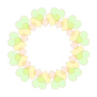 黄緑色フレーム半透明淡色