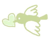 緑の小鳥のイラスト素材サンプル