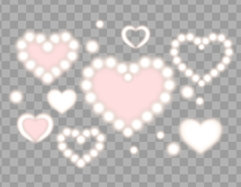 透過部分のサンプル画像白とピンクのフワッとしたハート