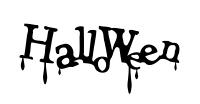 Halloweenの滴る文字イラスト素材