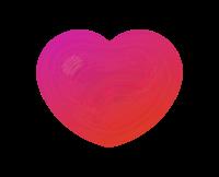 ハートアイコン透明ピンク