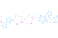 星模様の横ライン