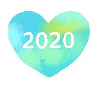 2020白文字水色ハート