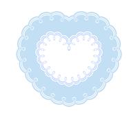 ブルー二重枠の装飾ハートフレーム